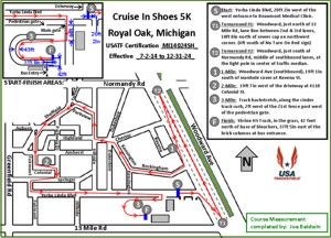 Cruise in Shoes Course Map